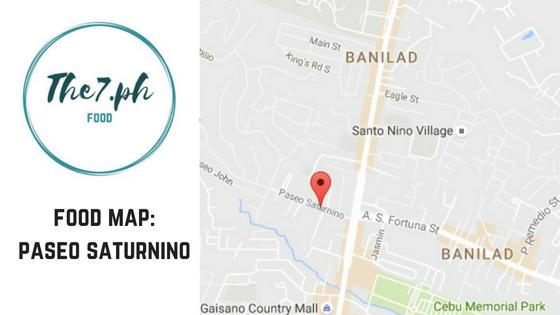 The 7 Ph Cebu City Food Map : Paseo Saturnino