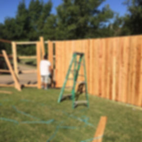 Good Guys Roofing Company Fence Build