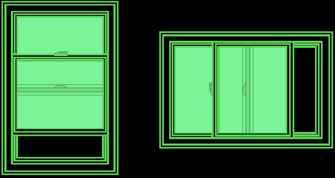 Slider window drawing