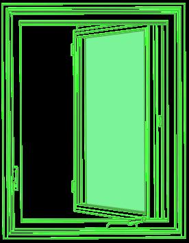 Casement window drawing