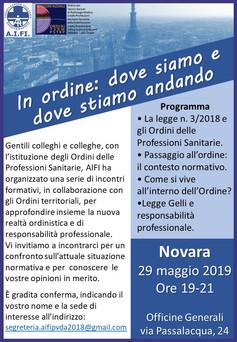 SAVE THE DATE 29.5.19 - Novara - Fisioterapista