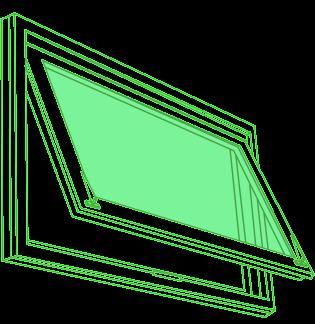 Hopper window drawing