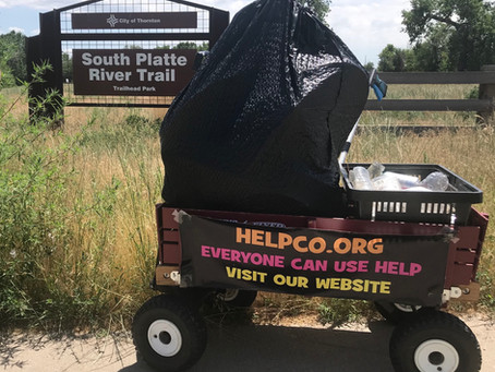 Trash at Trailhead Park Picked Up By HELPCO