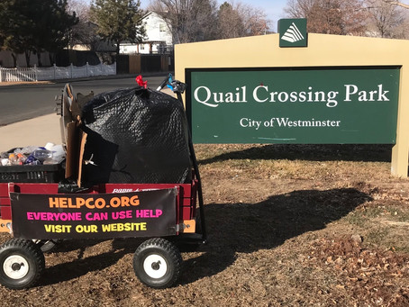 Cleanup at Quail Crossing Park Compliments of HELPCO
