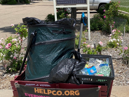 Successful Cleanup at Zang Spur Park Compliments of HELPCO