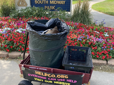 Straightening Up of South Midway Park Provided by HELPCO