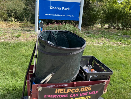 Cherry Park Cleanup Provided by HELPCO