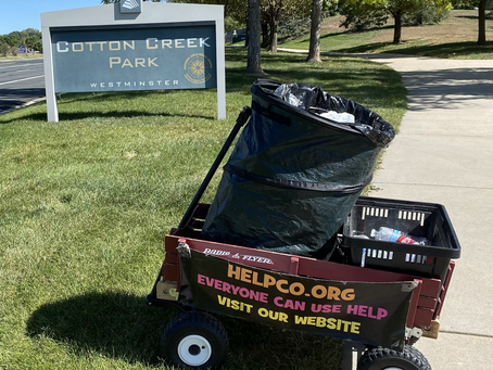 Cotton Creek Park Cleanup Complements of HELPCO