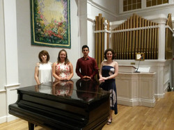 With Students after a Concert