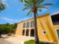Colonial frontage at the home of Ananda Yoga Retreats Ibiza Benirras beach