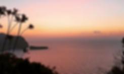 Sunset view at Ananda Yoga Retreats Ibiza overlooking Benirras beach
