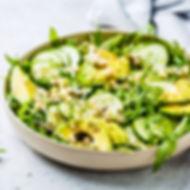 Plated vegan salad at Ananda Yoga Retreats Ibiza