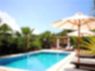 Poolside view at Ananda Yoga Retreats Ibiza