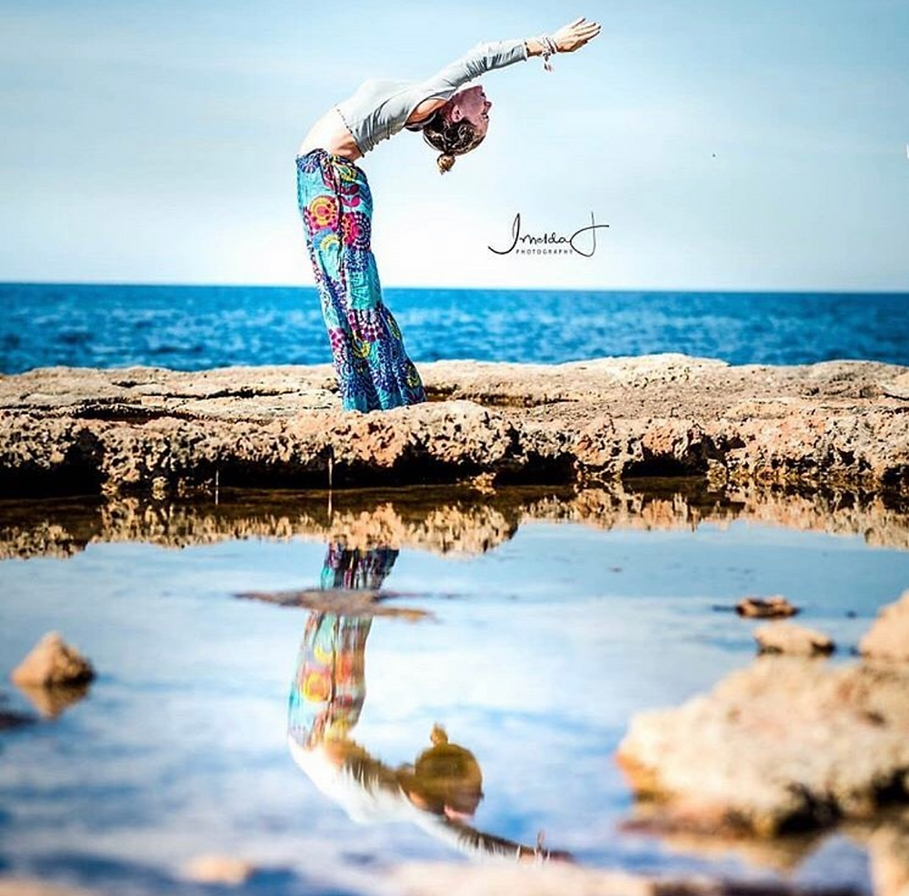 Our very own Jivamukti teacher Andrea Everingham bringing a sparkle to your Ibiza Yoga holiday