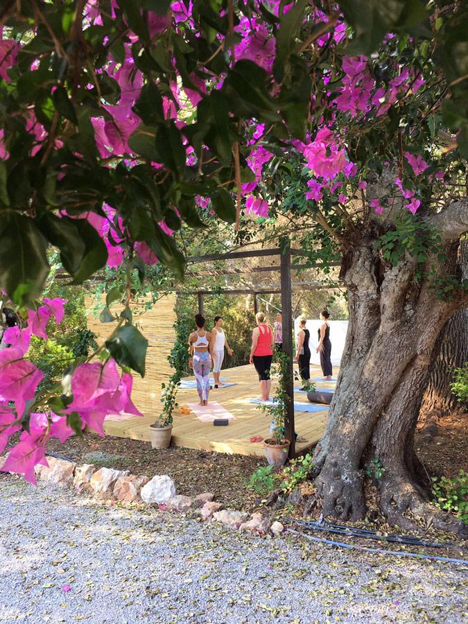 Yoga practice platform in Ibiza