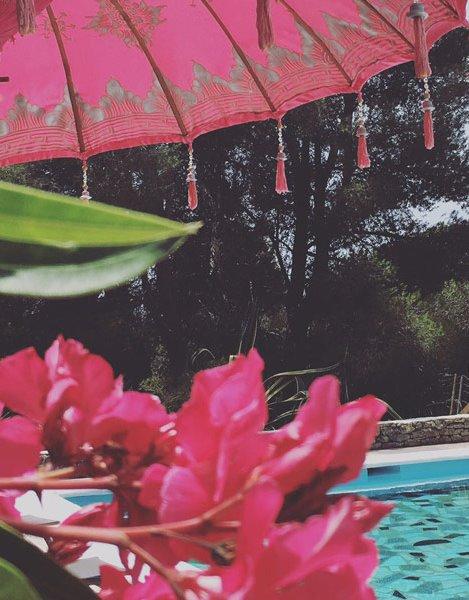Pool at the retreat venue in Ibiza
