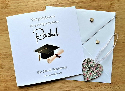 Personalised Graduation Card - University - School - Any Name