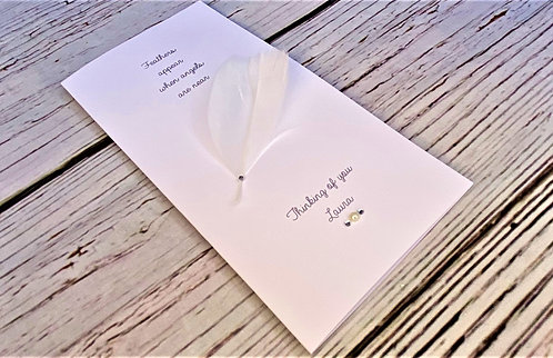Handmade Bereavement Card - Personalised - Condolence - Sympathy - Tall DL Card