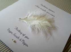Feather Bereavement Card Personalised