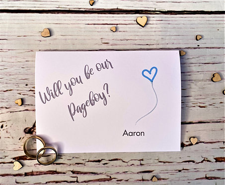 Will you be our Pageboy / Usher / Wedding Day Card / Wedding Party Card