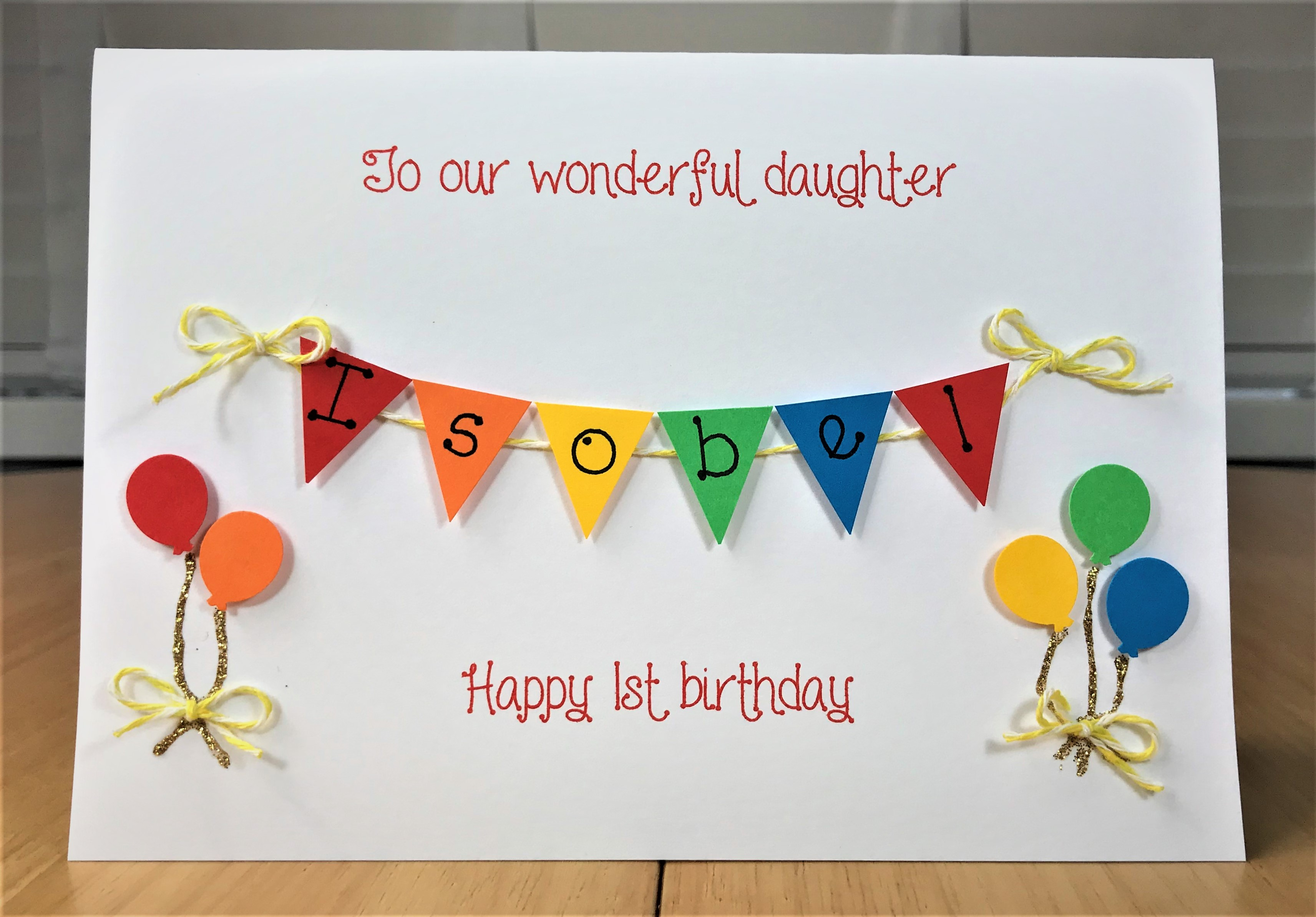 Personalised Birthday Card Balloons