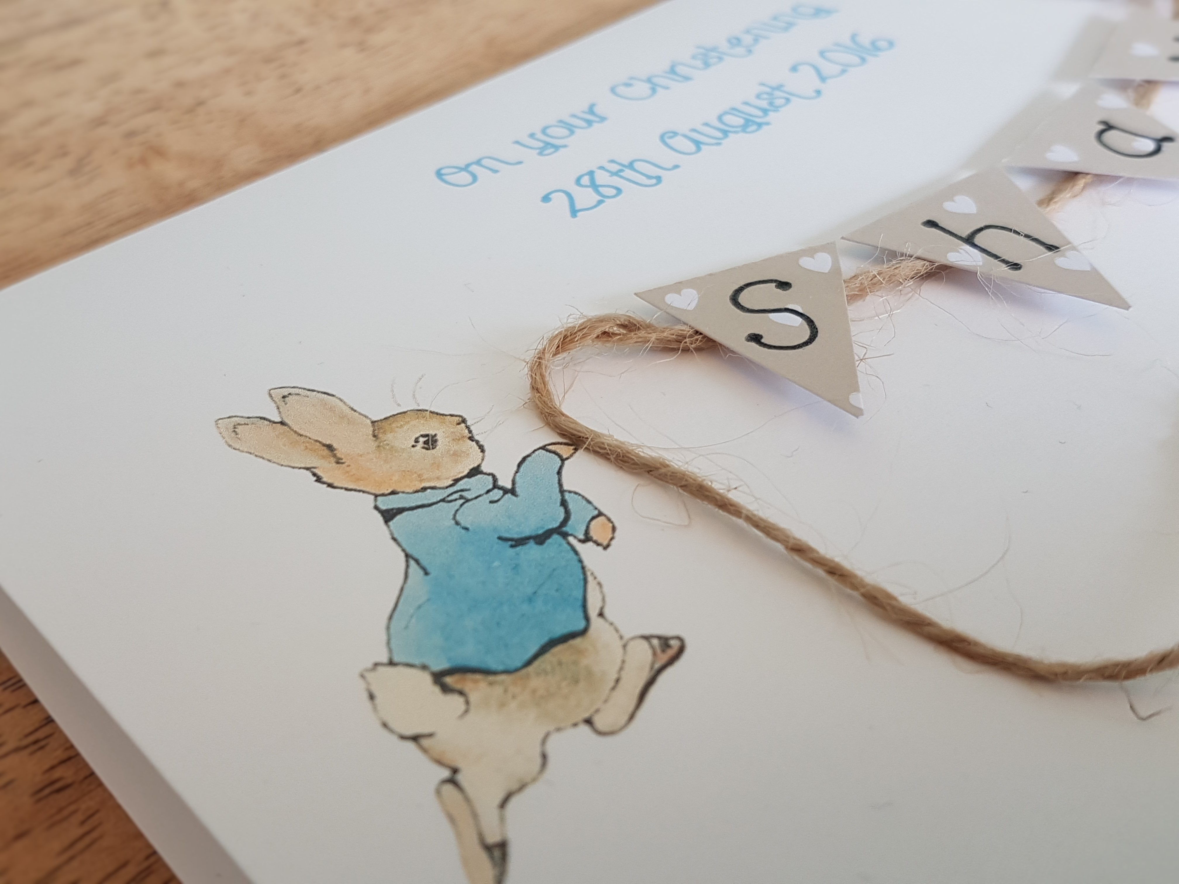 Peter Rabbit with bunting