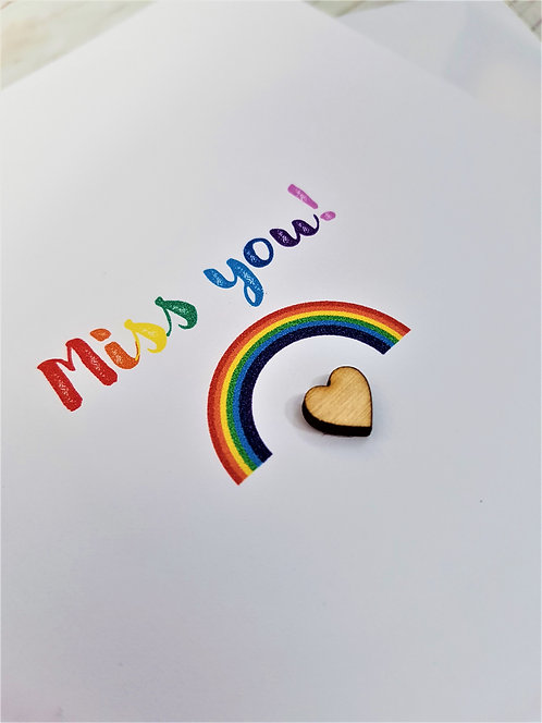 5 x 7 inch Miss You Rainbow Card