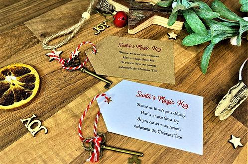 Santa's Magic Key with Tag (Brown or White)