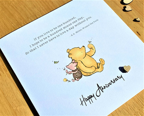 Anniversary Card - Quote - Sentiment - Winnie the Pooh Classic