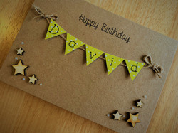 Brown Birthday Card with Stars
