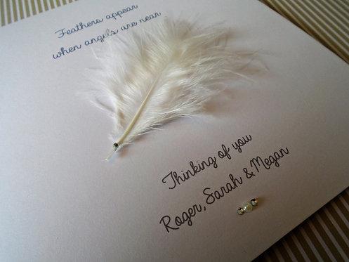 Handmade Bereavement Card - Personalised - Condolence - Sympathy - 6 x 6 inch