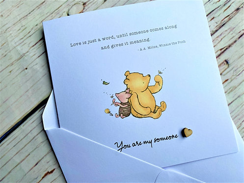 Winnie the Pooh Sentiment - Friendship - Anniversary - Birthday - Classic Quote