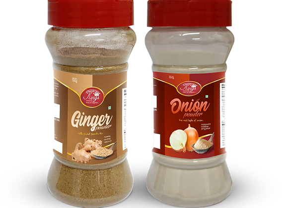 Kings  Ginger and  Onion Powder -200 Gram Pack of 2