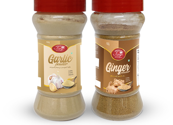 Kings  Garlic and Ginger Powder Combo-200 Grams