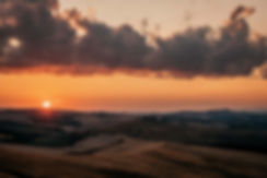 Sonnenuntergang bei Pienza (Toskana)