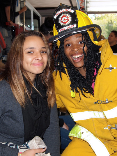 Blackstone Academy Charter School students take a senior trip to Prudence Island Fire Department