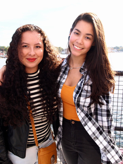 Valentina and Stefany ('16) on their Senior Trip