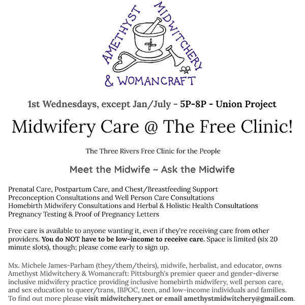Flyer for Midwifery Care @ TRFCftP