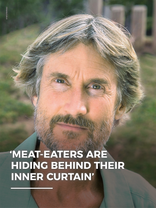 Meat eaters are hiding behind their inner curtain