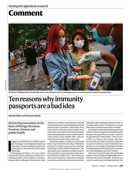 Ten reasons why immunity passports are a bad idea