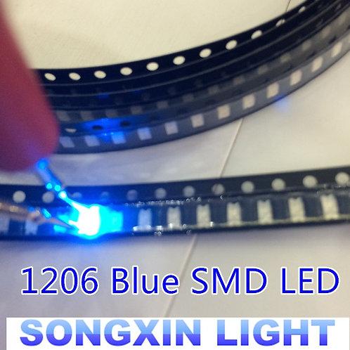 100PC 1206 Blue Led Super Bright SMD