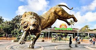 San Diego Zoo Lion Statue
