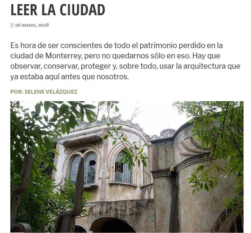 Leer la ciudad.