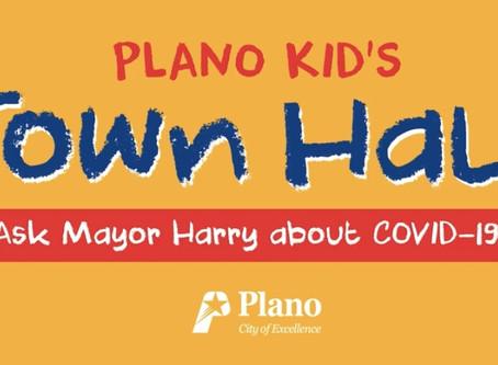 Plano Hosts First Kids Town Hall With Focus On Coronavirus