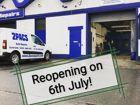 Great news we are reopening!