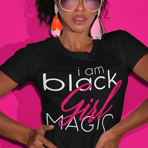 i am BLACK GIRL Magic Short Sleeve Crew Neck T-shirt