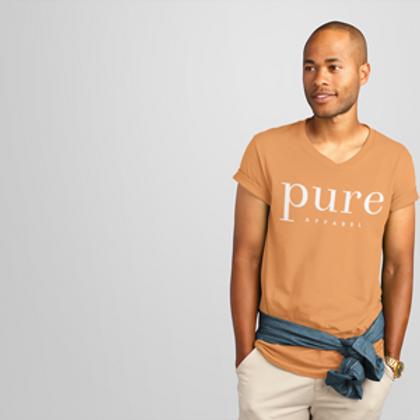 Pure Apparel Short Sleeve Crew Neck White Logo Tee