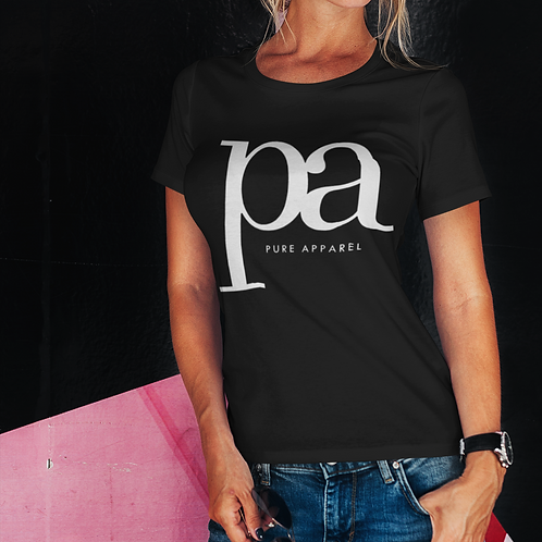 Pure Apparel Short Sleeve Crew Neck White-pa Logo Tee