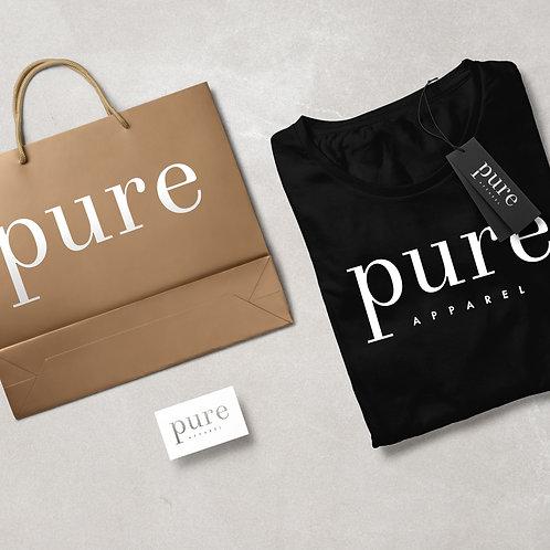 Pure Apparel Short Sleeve Crew Neck Signature-Logo Tee