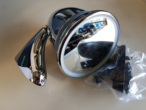 GAM108 LH BULLET MIRROR (LONG ARM)